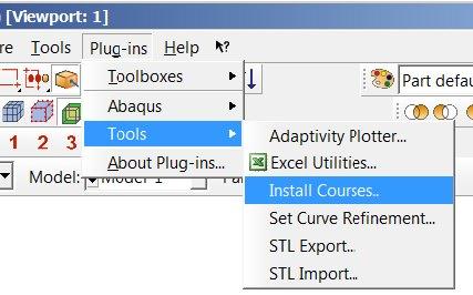 Install Courses Menu