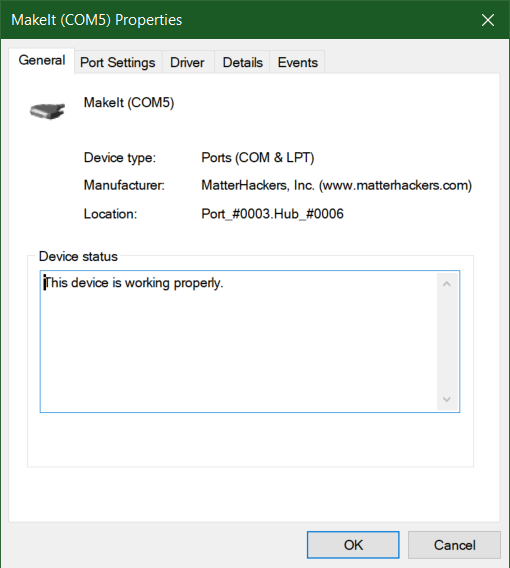 Device Manager Snapshot