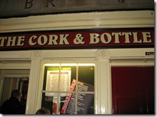 the cork and bottle in bath