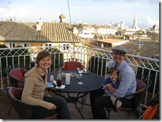 H and T at Fry Family Trio at roof top terrace of hotel raphael