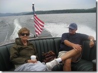 grandma and grandpa on the boat