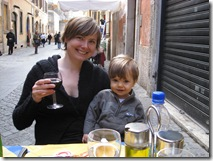 kristine and henry at roman cafe lunch