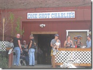 The Boys pose in Front of One Shot Charlie's